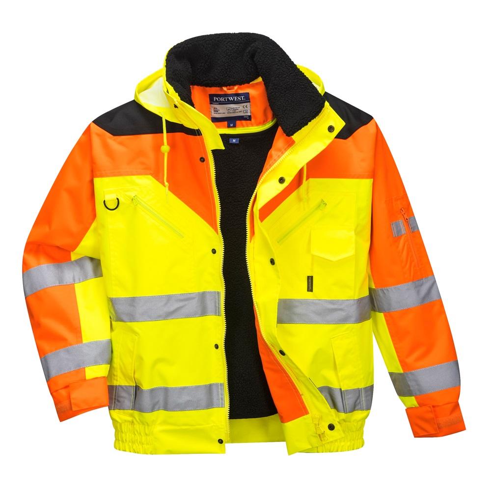 Kezdőlap   Jól láthatósági munkaruha   Jól láthatósági kabát   S464 Jól  láthatósági bomber dzseki 66ac3bdcdf